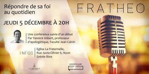 Nyon, le 5 décembre : « Répondre de sa foi au quotidien », une conférence de Yannick Imbert