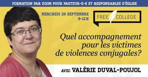29 septembre : matinée de formation « Quel accompagnement des victimes de violences conjugales ? » avec Valérie Duval-Poujol